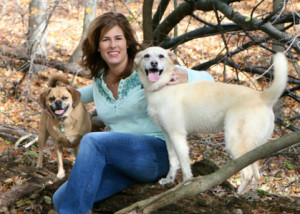 Life Coach Hilary with her two dogs